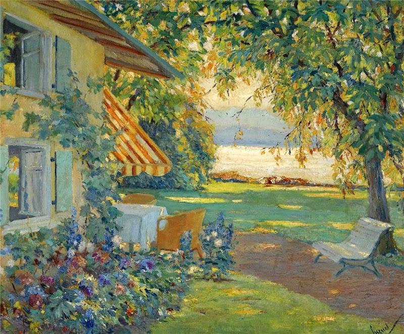 Edward Cucuel - The Artist's Garden on Lake Starnberg