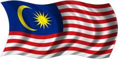 Malásia - bandeira para colorir