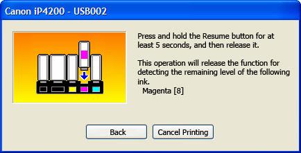 Nízká hladina inkoustu v tiskárně