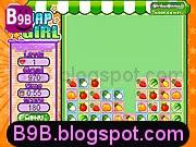 لعبة الفتاة المدهشة وعمليات الترتيب والتبديل لمواقع الفواكه والخضروات اللذيذة