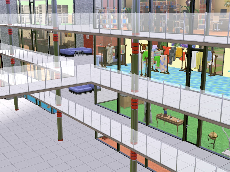 sims3 shopping mall shops sklepy promocje i restauracje pod jednym dachem