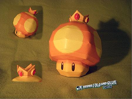 Mario Kart Golden Mushroom Papercraft