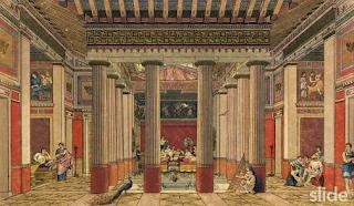 ελληνικό παλάτι,συμπόσια, Greek palace, feasting.