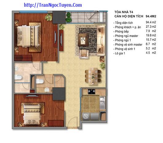 Bán chung cư Times City T1 T4 94.4m2