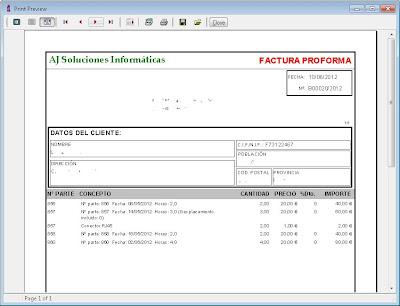 Facturas a clientes - AjpdSoft Gestión Integral