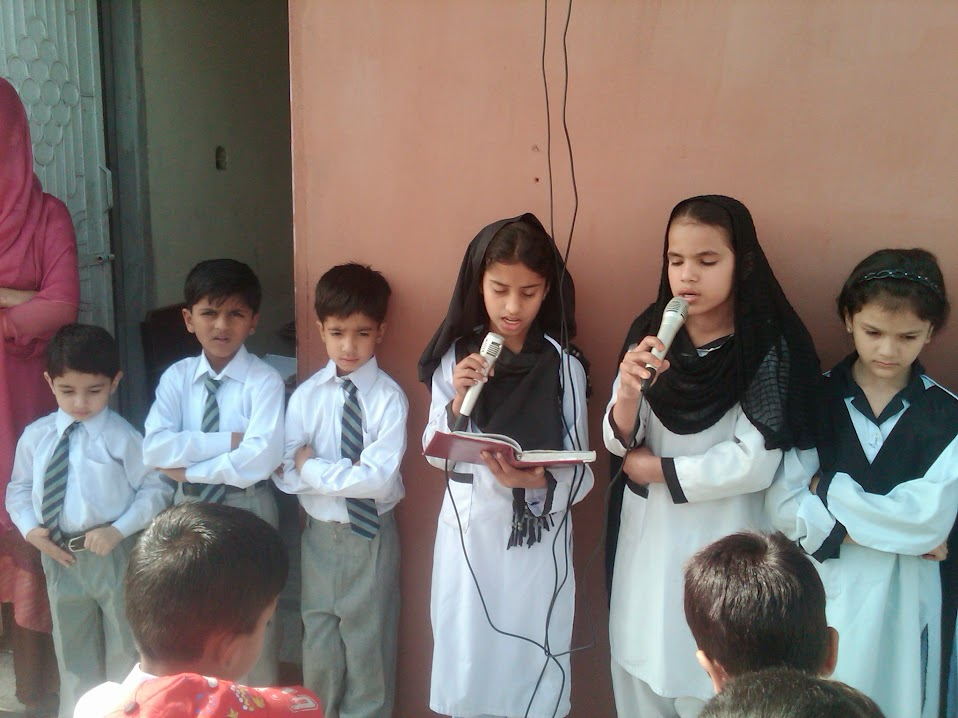 Students during morning Assembly - 21 April, 2015