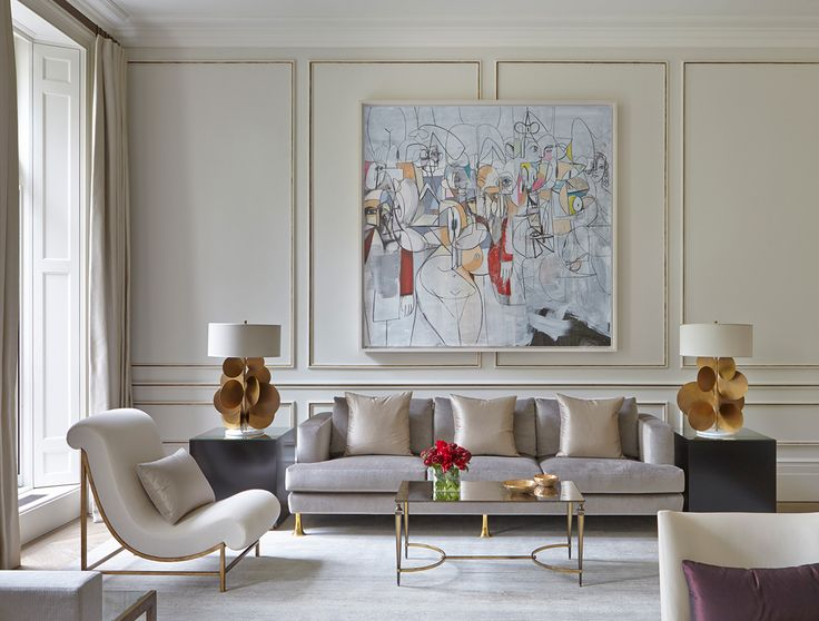 Gallery Art, Soft Neutrals, Living Room,