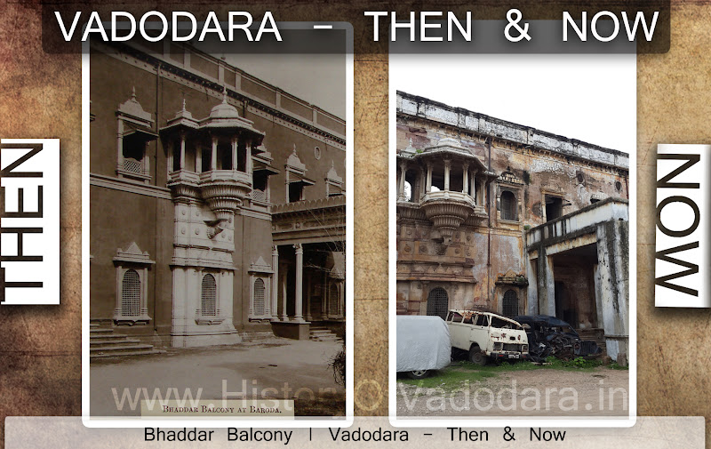 Bhaddar Balcony - Then & Now
