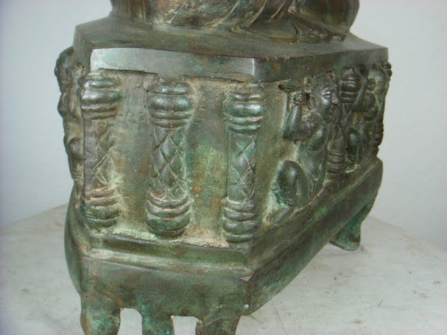 very special old chansan buddha bronze khajuraho tempel thailand 1960 64cm 15kg ebay. Black Bedroom Furniture Sets. Home Design Ideas