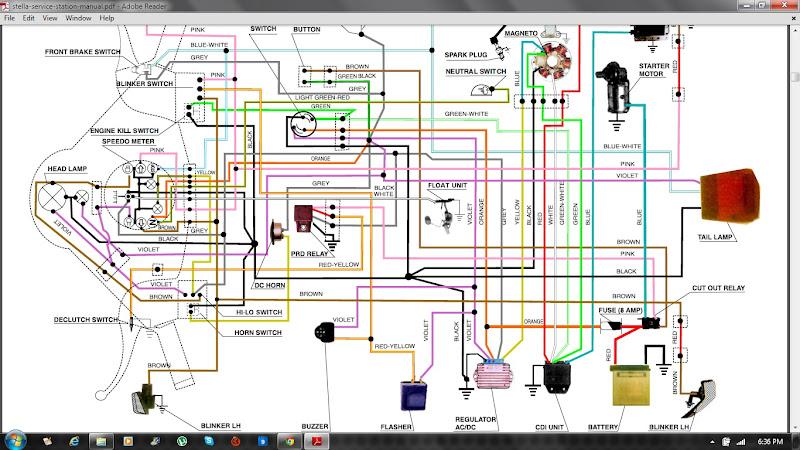 honda wave 100 electrical wiring diagram honda rancher ... on