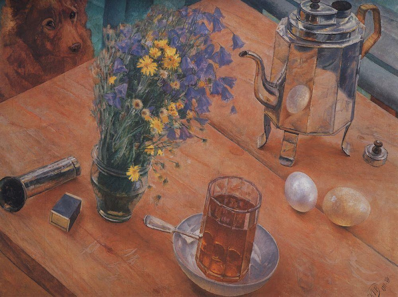 Kuzma Petrov-Vodkin - Morning still life. 1918