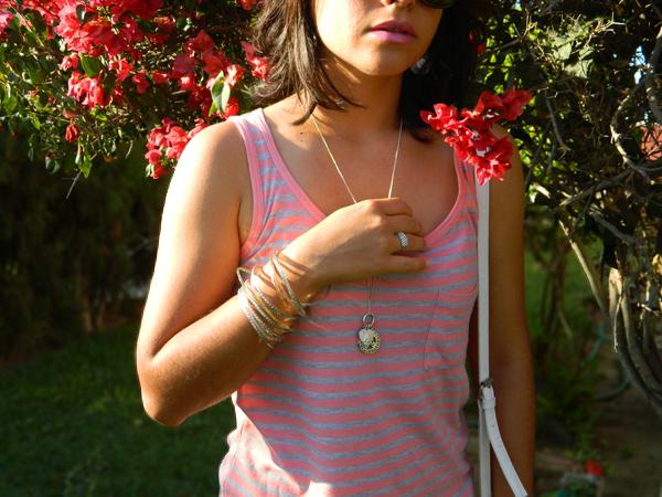 striped shirt and denim
