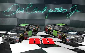 Dale Earnhardt Jr Victory Lane Dark Knight wallpaper