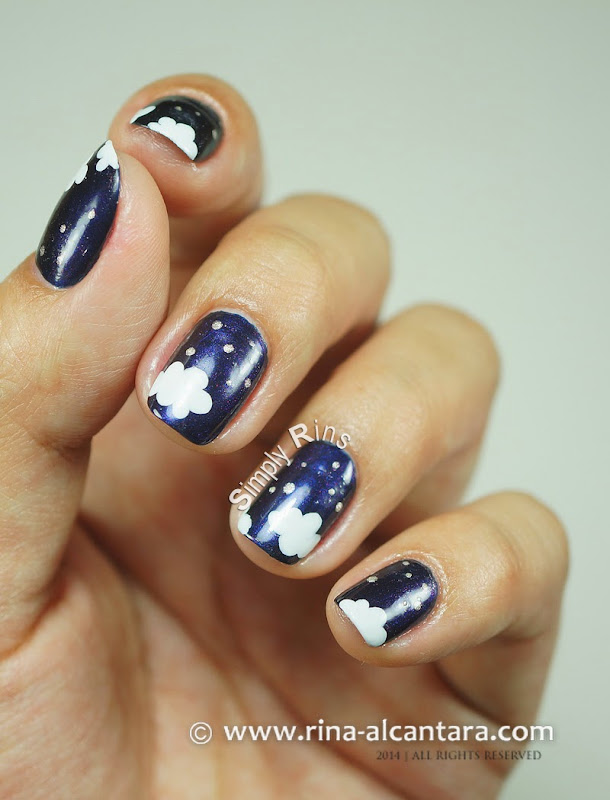 Night-y Night Nail Art by Simply Rins