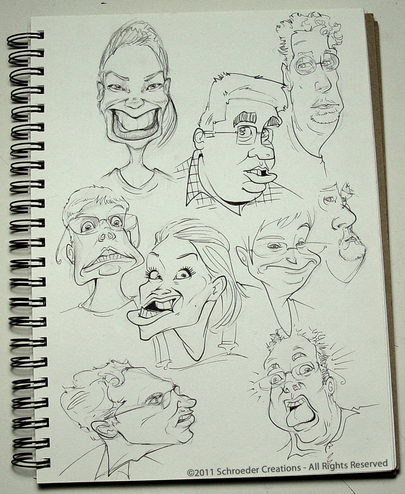 Interested in Drawing Caricatures? | Save The Doodle! Caricatures ...