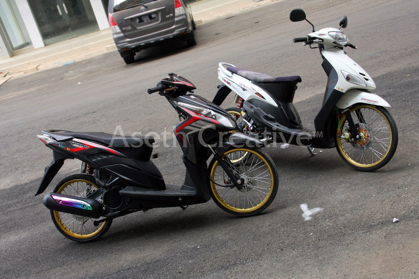 Download Kumpulan 65 Modifikasi Motor Honda Vario Techno Cbs