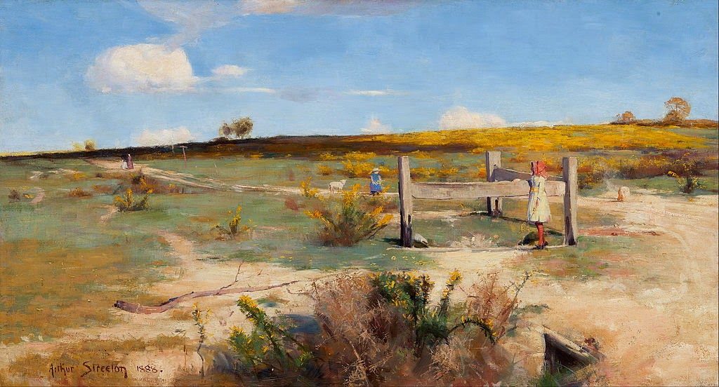 Arthur Streeton - Early summer - gorse in bloom
