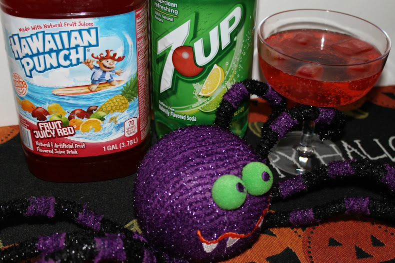"Make ""Vampire Juice"" with Hawaiian Punch and 7UP #shop #SpookyCelebration"