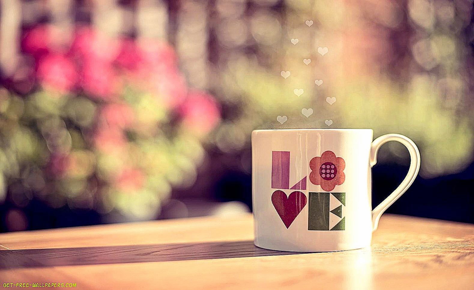 Good Morning Love Desktop Wallpaper : 3D Love coffee Wallpapers Hd Desktop Wallpaper Background Gallery