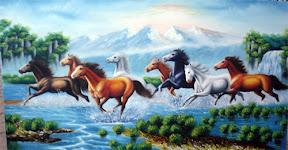 Tranh vẽ ngựa - Tri ân tặng thầy cô