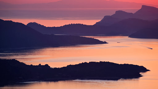 Sunset Over Islands in the Adriatic Sea, Off Dubrovnik, Croatia.jpg