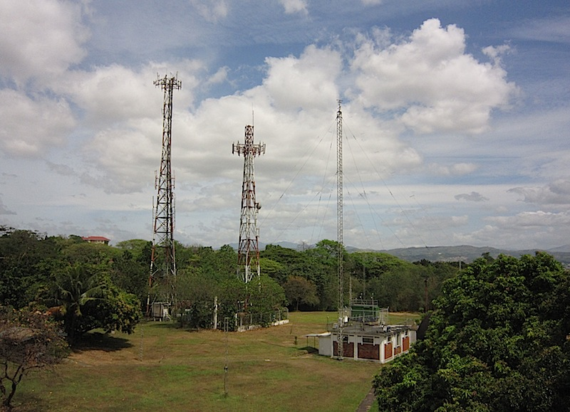 cell sites inside Ateneo de Manila University