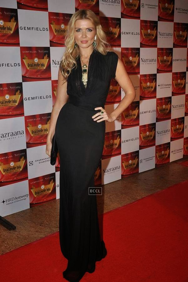 Elena Samodanova during the 10th Annual Gemfields and Nazraana Retail Jeweller India Awards, 2014, in Mumbai, on July 19, 2014. (Pic: Viral Bhayani)