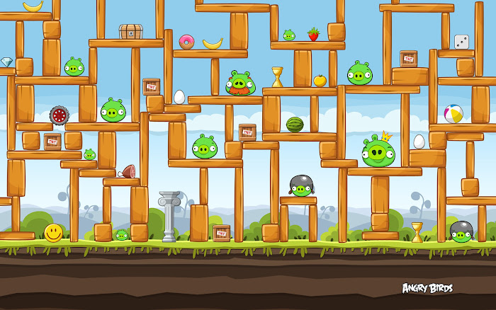 Hình nền về những chú chim điên trong Angry Birds - Ảnh 3