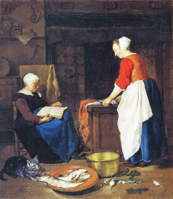 Gabriel Metsu - An Old Woman Asleep