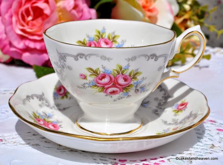 Royal Kent Rose Bouquet Vintage Teacup and Saucer