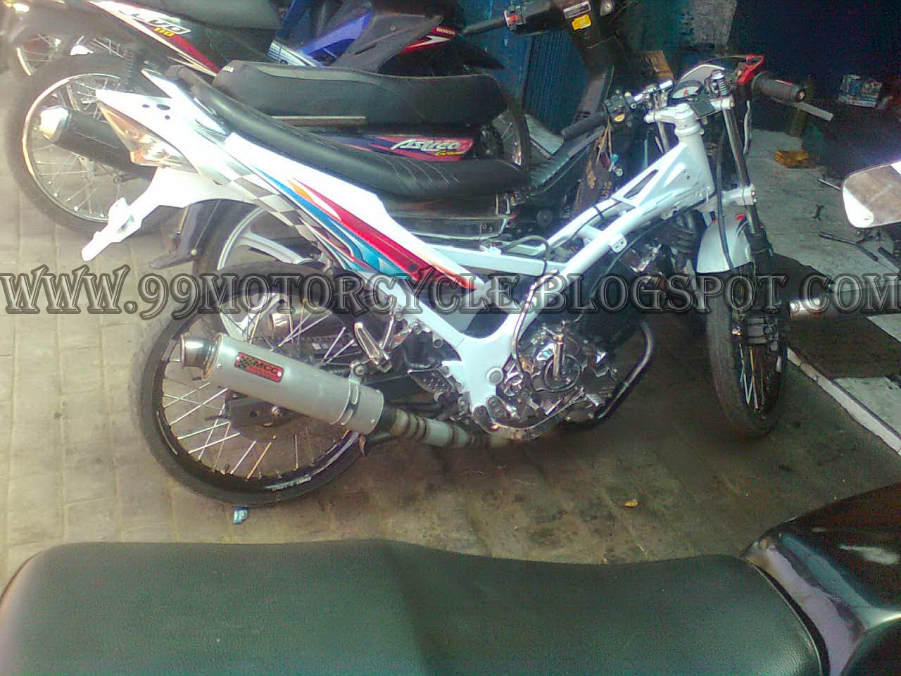 Modifikasi Honda Beat Semi Drag