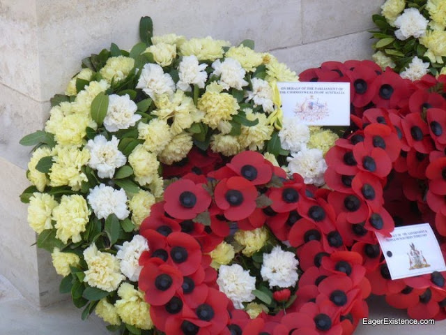 floral arrangements at lone pine memorial