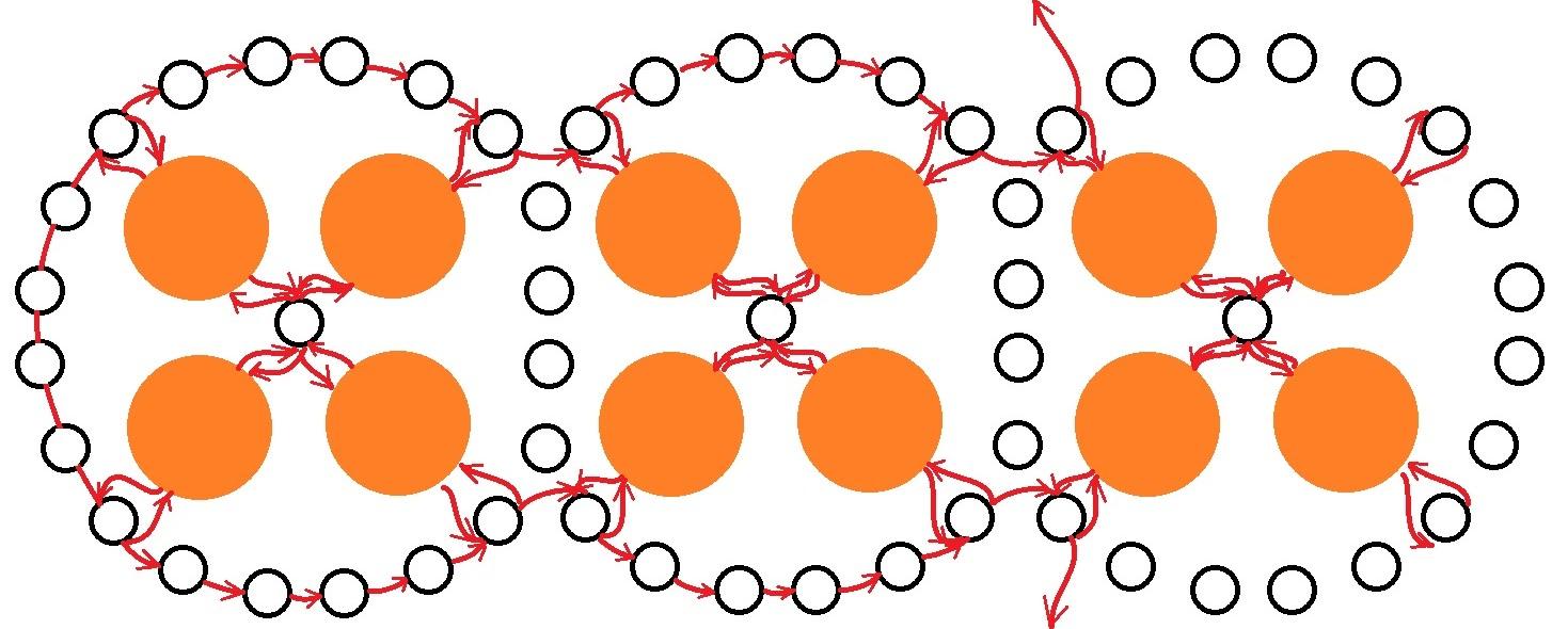 Оранжевый браслет из бисера. Схема.