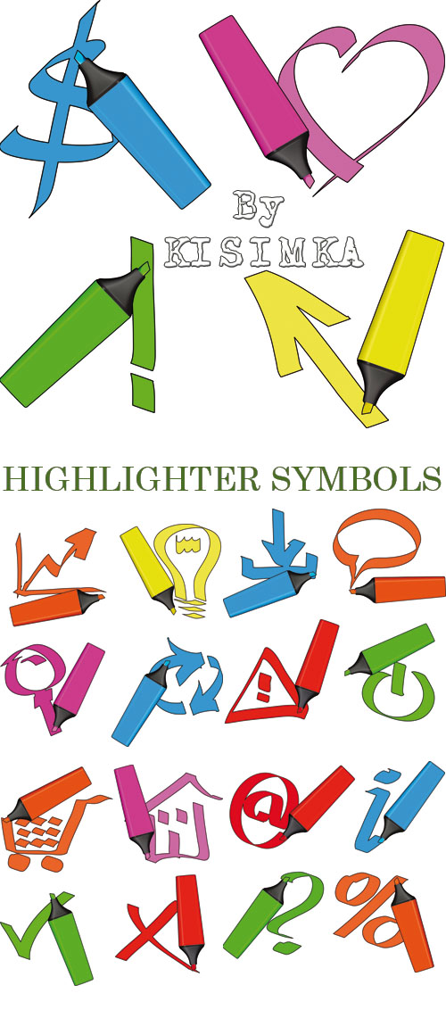 Stock: HIGHLIGHTER SYMBOLS