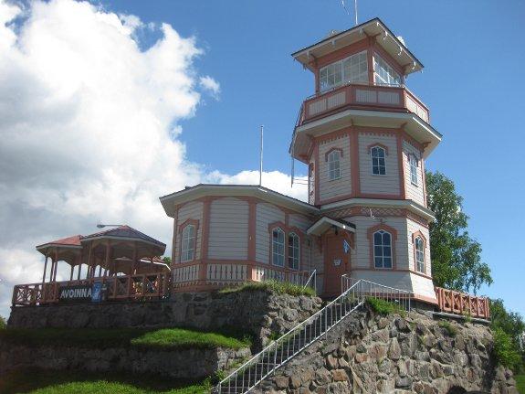 De kasteelruïne van Oulu