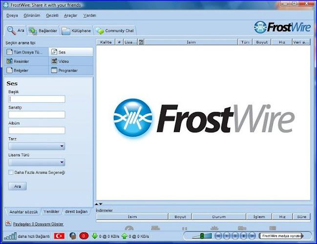 FrostWire v5.5.3 Türkçe İndir