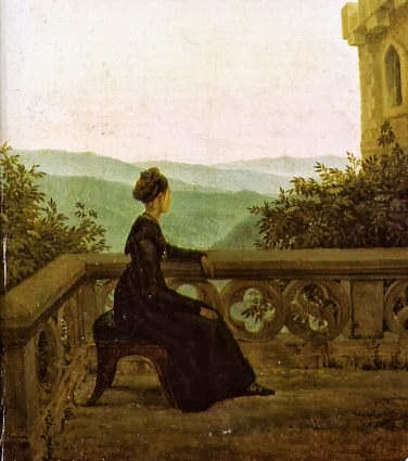 Carl Gustav Carus - Woman on a Balcony