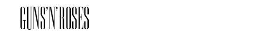 Edition font logo Guns'n'Roses