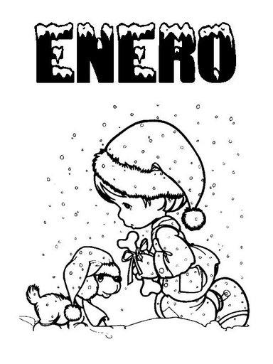 Fantástico Hojas Para Colorear De Enero Imagen - Páginas Para ...