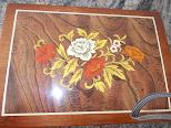 Joyero de madera (decorado con flores,