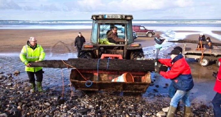 UK: Storm washes Armada wreckage on to Sligo beach