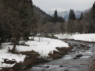 石徹白川と銚子ヶ峰(?)