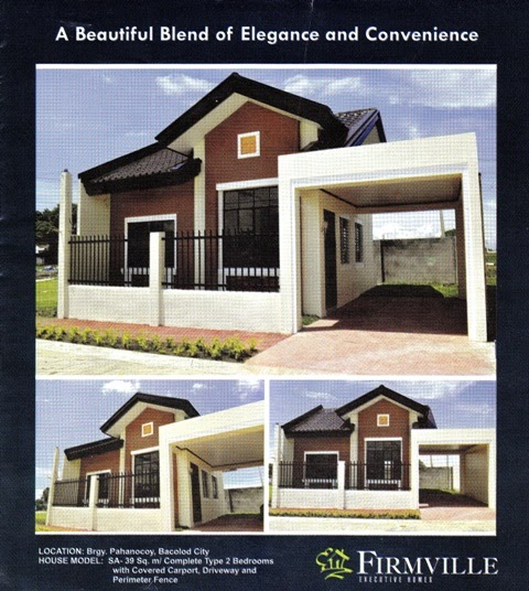 Low Cost Rental Homes: Negrense Dream Homes: FirmVille Executive Homes, Pahonocoy