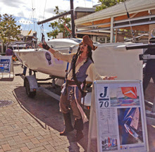 J/70 one-design sailboat- protected by Captain Jack Sparrow! in Australia!