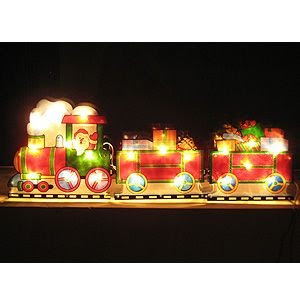 2Pcs X Hot Lamps for Christmas Santa Claus Decoration Train Holiday's Gifts