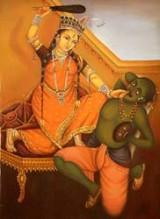 Goddess Bagalamukhi Image