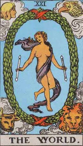 Tarot Card Meaning For The World Rws And The Universe Thoth