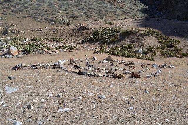 arranged rocks