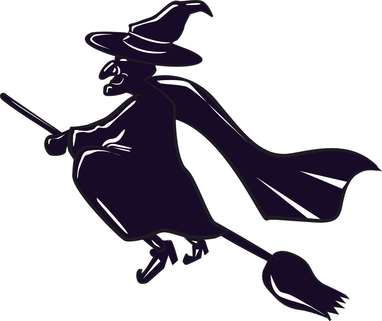 Season -  Halloween  Witch on broomWitch On Broom Clip Art
