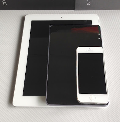 上からiPhone5、Nexus7、iPad3